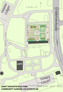 Mountsfield Community Garden design for discussion. Design by Lewisham Gardens for discussion.