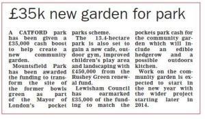 Mountsfield Park Community Garden Grant - News Shopper Story