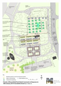 Friends of Mountsfield Park Sketch Comments in Response to January 2014 Community Garden  Consultation Event