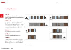 Mountsfield Park - Design and Access Statement cafe building elevation
