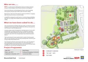 Mountsfield Park Improvements 1