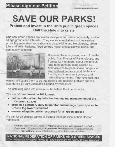 save our parks petition