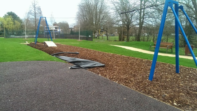 Mountsfield Park play area retrofitted land drain.