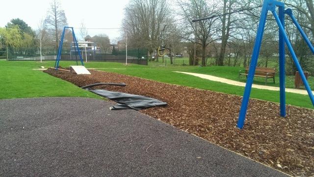 Mountsfield Park play area retrofitted land drain.