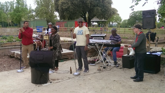 Dr Elias and the Soul Surgeons at Teddy Bears' Picnic Mountsfiled Park community garden