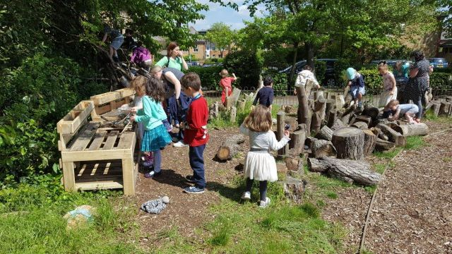 Mountsfield community garden mud kitchen