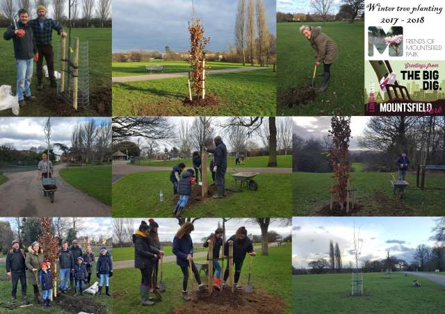 Thanks to everyone who has supported and taken part in the winter 2017/2018 avenue tree planting at Mountsfield Park!