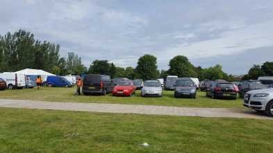 Mountsfield football pitches used as car park for Lewisham People's Day